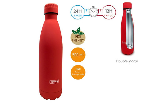 Rouge - Bouteille isotherme 500 ml - Nerthus