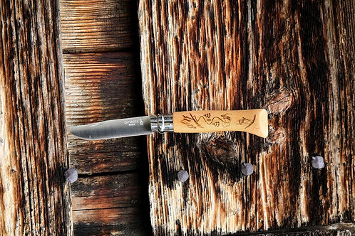Couteau Opinel - N°08 Gravure Ski