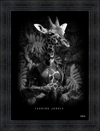 Tableau Girafe Binet - 50 x 70 cm