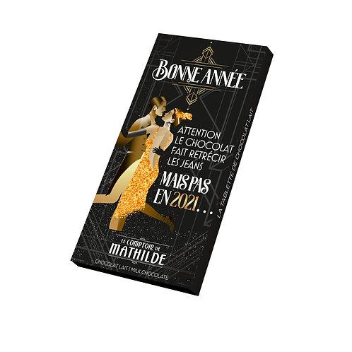 Tablette Chocolat Lait Bonne Année - Comptoir de Mathilde