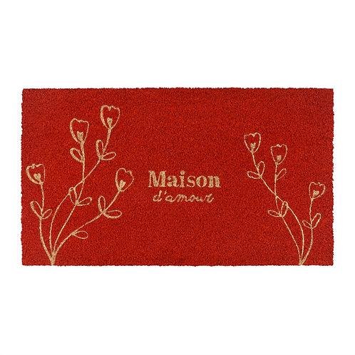 Paillasson COCO/PVC Maison d'amour fleur - DLP