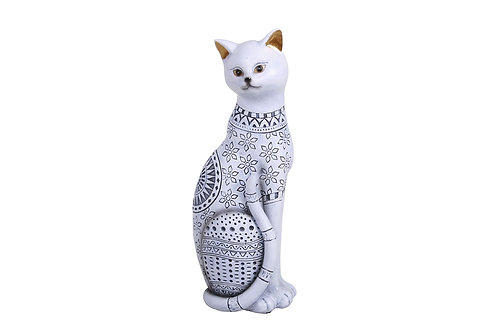 CHAT ASSIS PM BLANC - CRISTAL