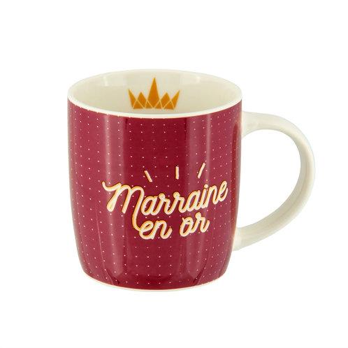 Mug LEMAN (+ boite) Marraine en or - DLP