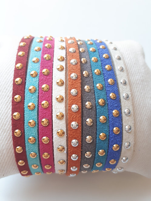 Bracelet Réglable - Cordon clouté