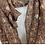 Thumbnail: Echarpe avec motif liberty lurex - Marron