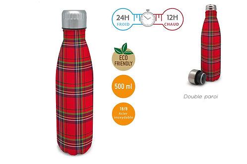 Carreaux Tartan -Bouteille isotherme 500 ml - Nerthus
