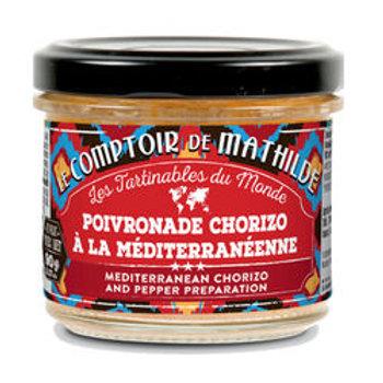 Tartinable Poivronade Chorizo à la Méditerranéenne - Le Comptoir de Mathilde
