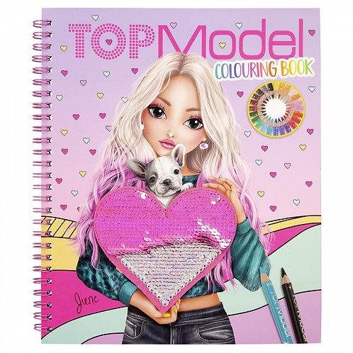 Album à colorier Sequins TOP Model avec paillettes
