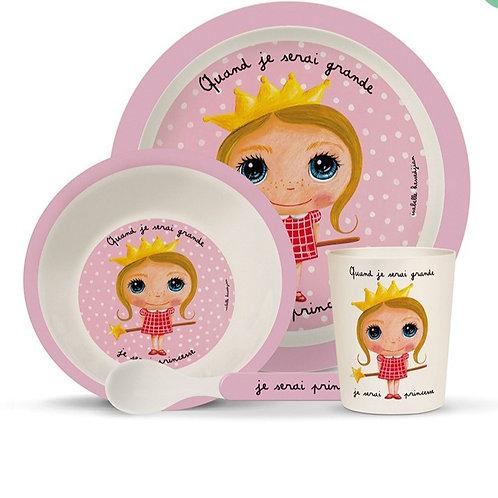 Princesse - Coffret Vaisselle Bambou - Quand Je Serai Grand