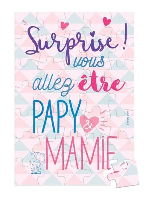 Surprise ! Vous allez être papy & mamie -PUZZLE SURPRISE