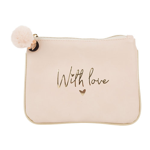 Pochette Girly Rose Cuivrée WITH LOVE