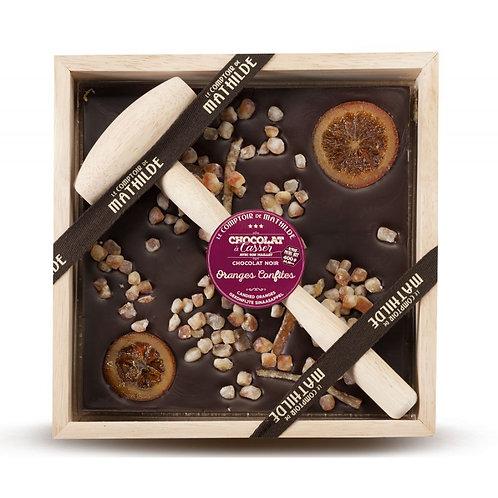 Oranges confites Chocolat noir - Chocolat à casser - Comptoir de Mathilde