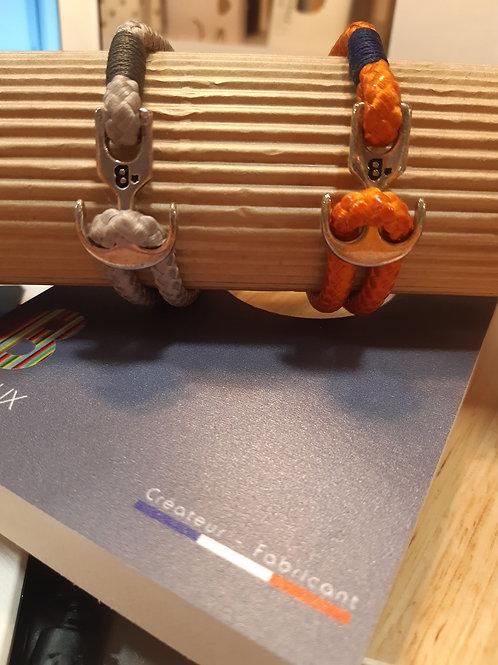 Bracelet Corde Réglable - 2 Coloris - MIXTE