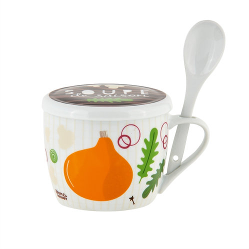 Bol à soupe PERMAN (+ couvercle) Soupe de saison -  DLP