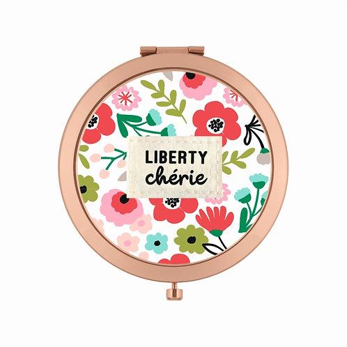 Miroir de poche LAURENCE - Liberty chérie