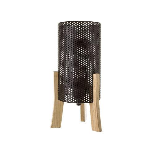 Lampe métal noir /bois