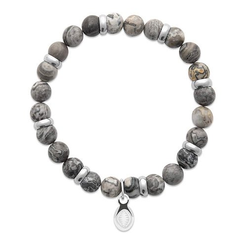 Bracelet Homme - Jaspe Gris