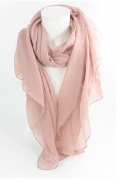 Echarpe uni paillette - rose nude