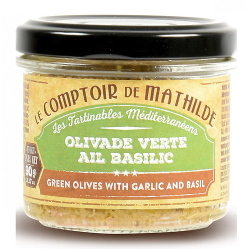 Tartinable - Olivade Verte Ail Basilic