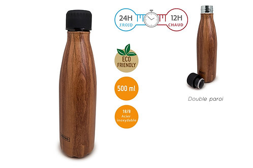 Bouteille isotherme 500 ml - Wood