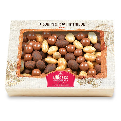 Coffret Turbinés (amandes crème de nougat - perles caramel - noisettes Gianduja)