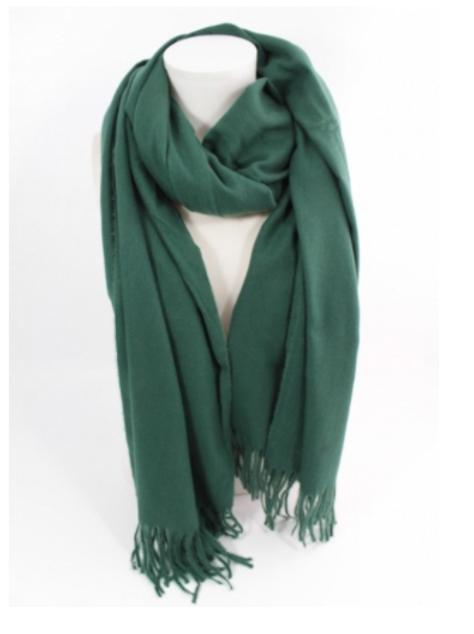 Echarpe laine - vert foncé