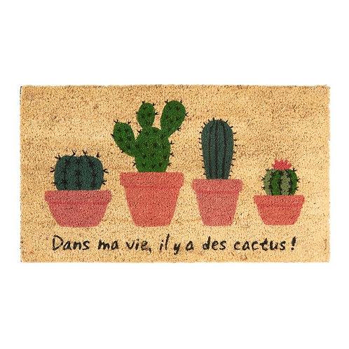 Paillasson COCO/PVC Il y a des cactus - DLP