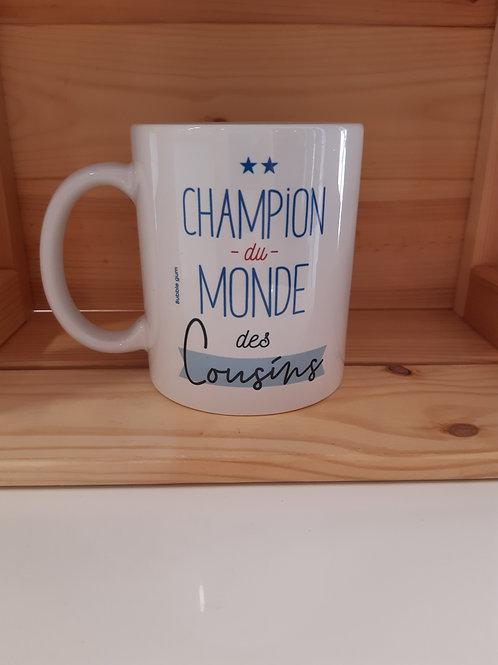 Mug - Champion du monde des Cousins