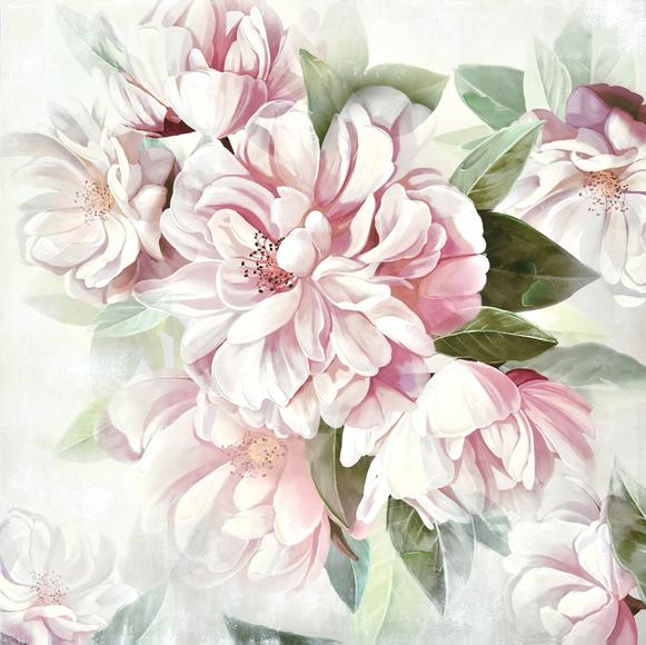Toile Fleurs - 80 x 80 cm