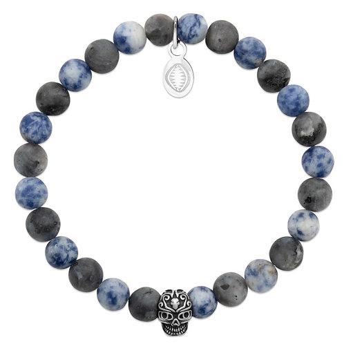 Bracelet Homme - Sodalite Skull