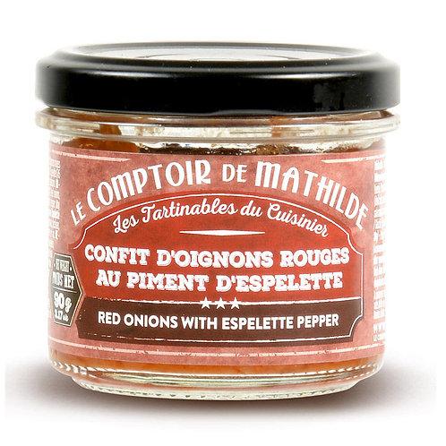 Tartinable - Confit d'oignons rouges au piment d'Espelette