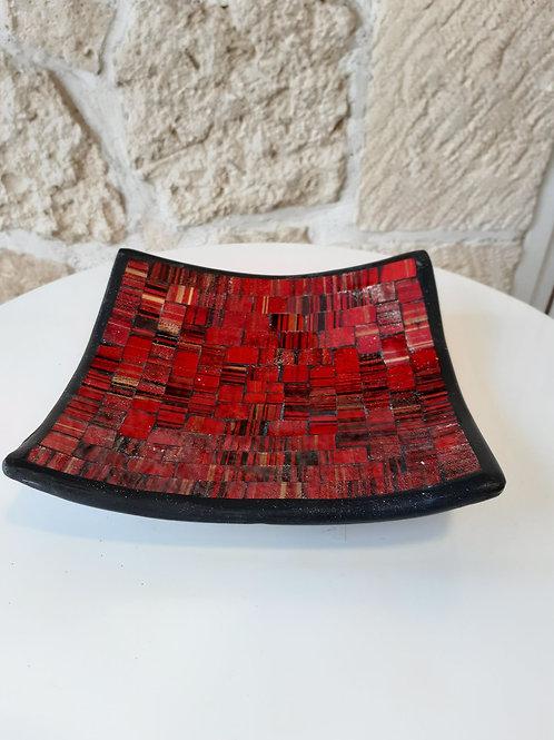 Coupes Mosaïques - Rouge/Noir & Or