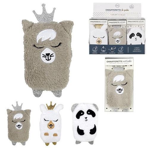 Chaufferette Réutilisable Moumoute - Panda / Lama / Ours