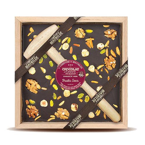 Fruits Secs Chocolat noir - Chocolat à casser - Comptoir de Mathilde