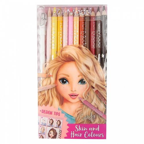 TOPModel 12 Crayons de couleur