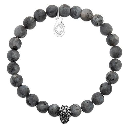 Bracelet Homme Skull - Labradorite