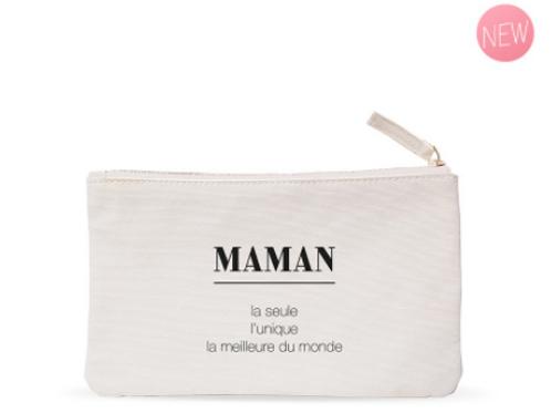Trousse plate coton MAMAN - La seule, l'unique, la meilleure du monde