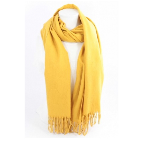 Echarpe laine tendance luxe - jaune