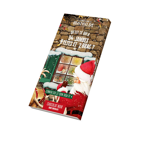 Tablette Chocolat Noir Noël - Comptoir de Mathilde