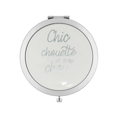Miroir de poche LAURENCE Chic chouette - DLP