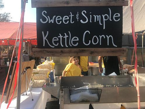 kettle corn tent