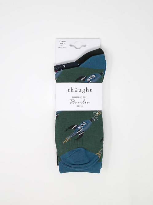 Thought Bamboo Socks - Galaxy 2-Pack (Men's)