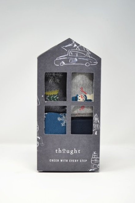 Thought Bamboo Sock Festive Gift Box – Edmund (Men's)