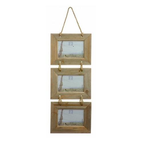 Hanging Photo Frame Set – Natural Wood
