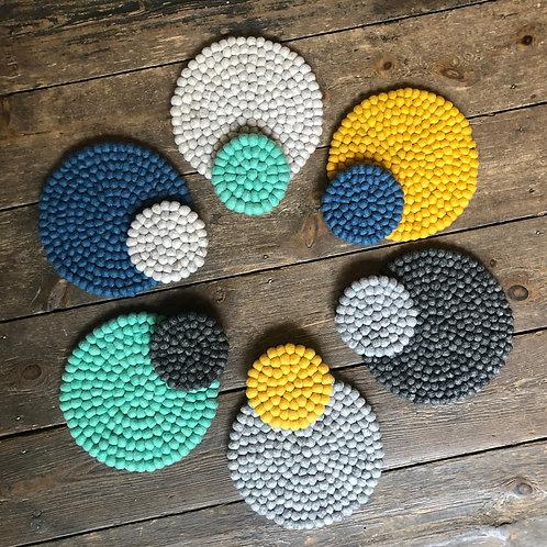 Mildo Handmade Eco Felt Ball Table Mat
