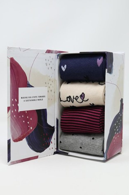 Thought Bamboo Sock Gift Box – Amore (Women's)