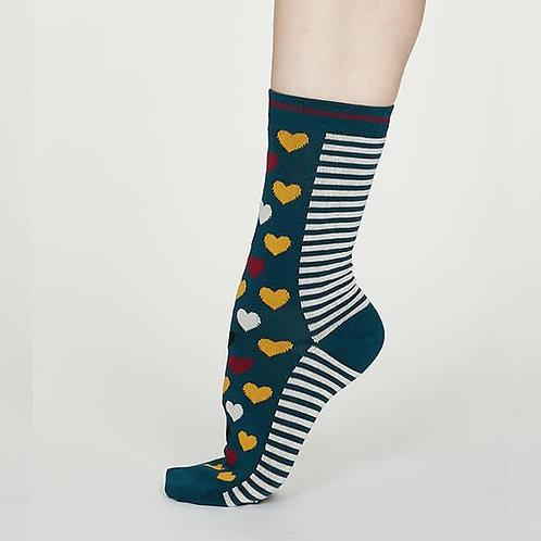 Thought Bamboo Socks – Eileen, Teal Blue (Women's)
