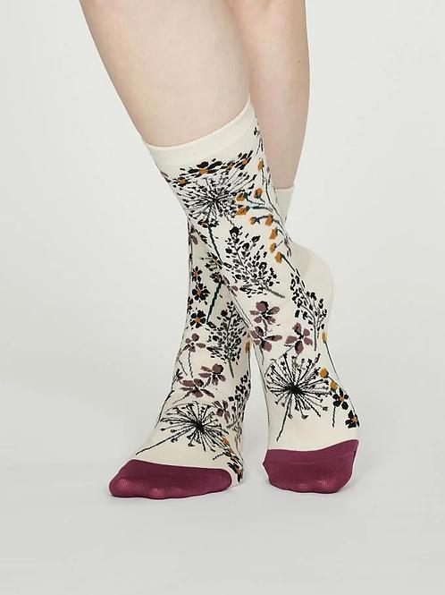 Thought Bamboo Socks – Amice, Vanilla (Women's)