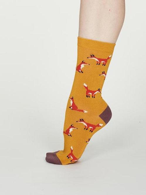 Thought Bamboo Socks – Foxy, Mustard (Women's)