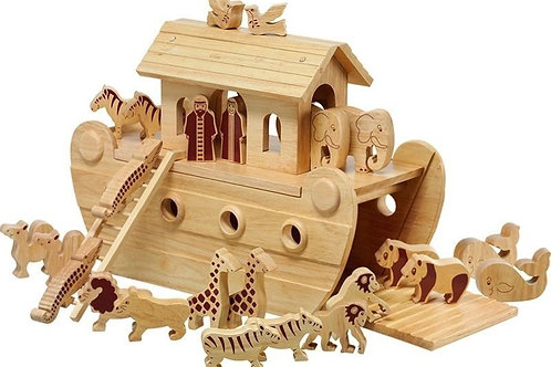 Lanke Kade Wooden Noah's Ark - Deluxe with Natural Characters